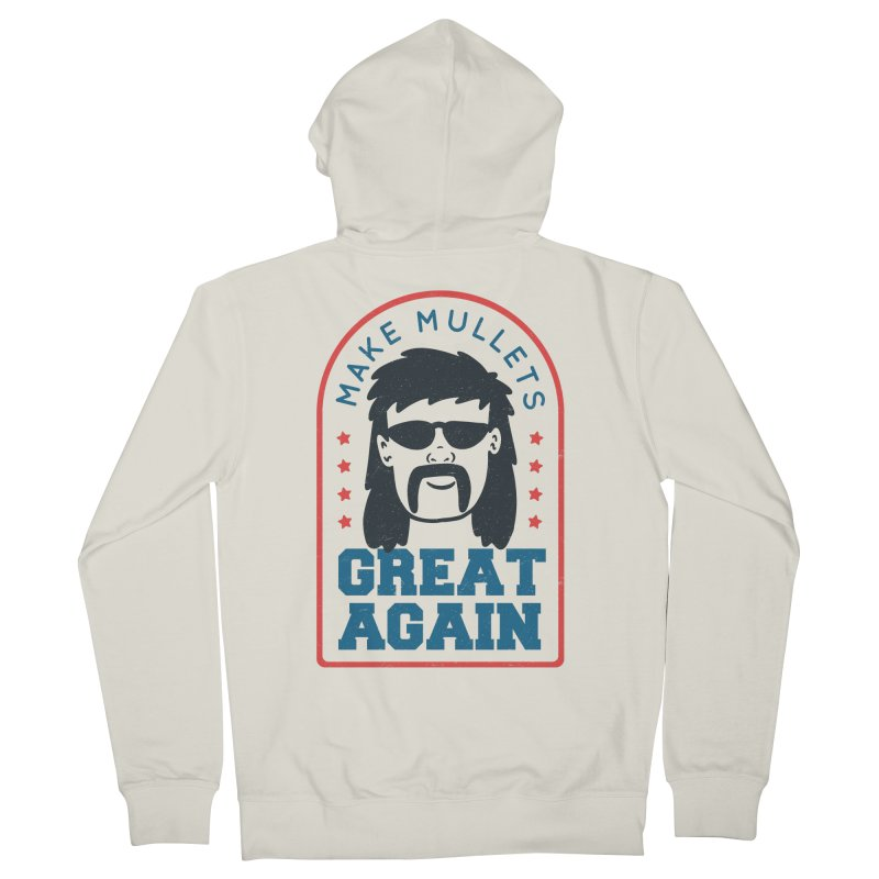 Make Mullets Great Again Men's Zip-Up Hoody by Toxic Onion