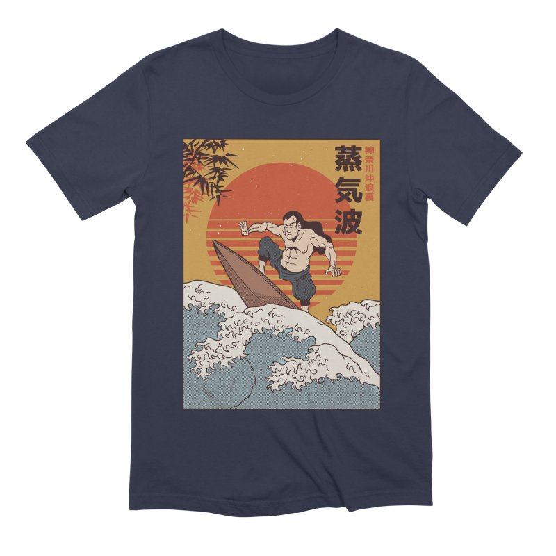 Surfing Samurai Men's T-Shirt by Toxic Onion