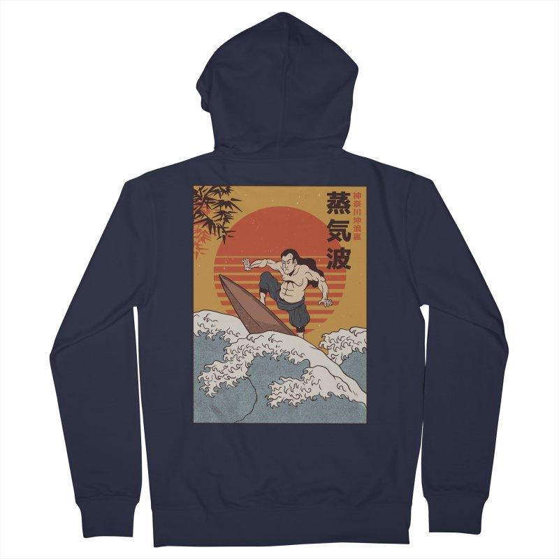 Surfing Samurai Men's Zip-Up Hoody by Toxic Onion