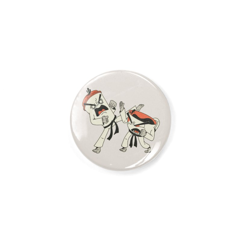 Coffee Vs Tea Karate Fight Accessories Button by Toxic Onion