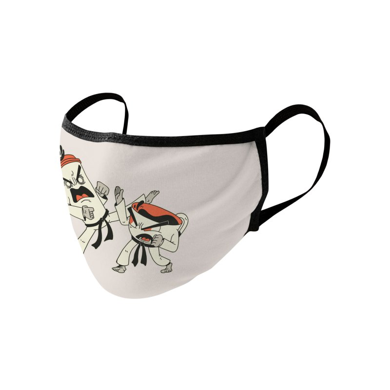 Coffee Vs Tea Karate Fight Accessories Face Mask by Toxic Onion - A Popular Ventures Company