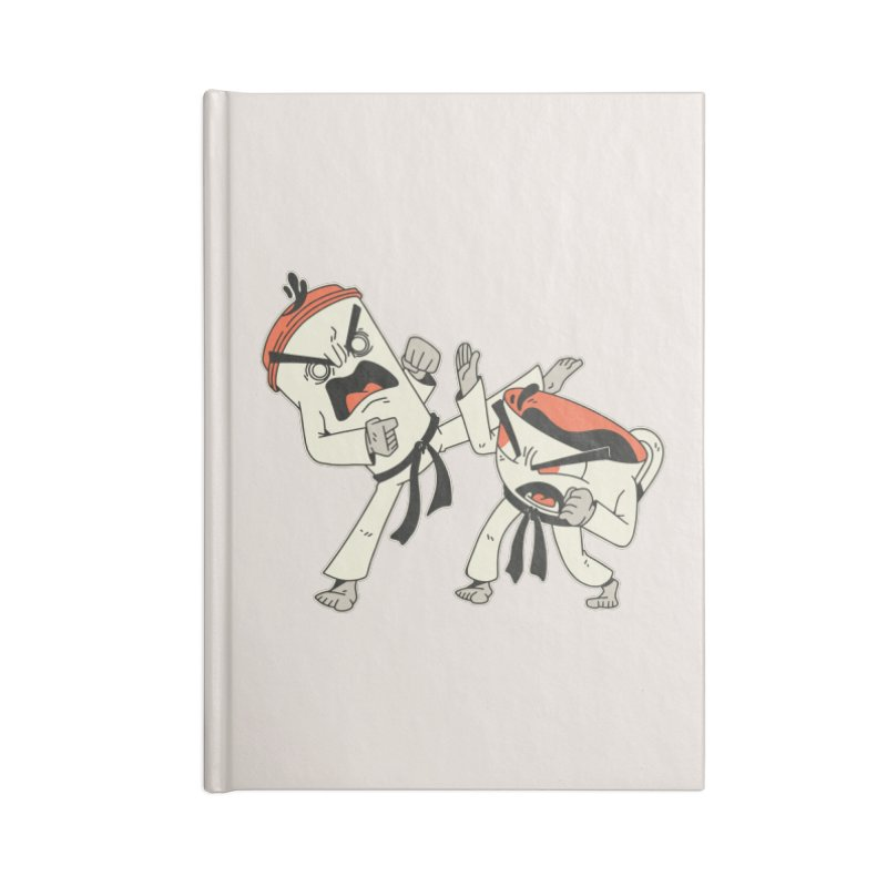 Coffee Vs Tea Karate Fight Accessories Notebook by Toxic Onion