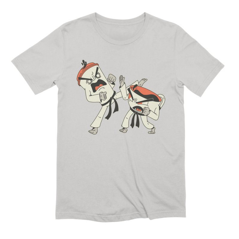 Coffee Vs Tea Karate Fight Men's T-Shirt by Toxic Onion - A Popular Ventures Company