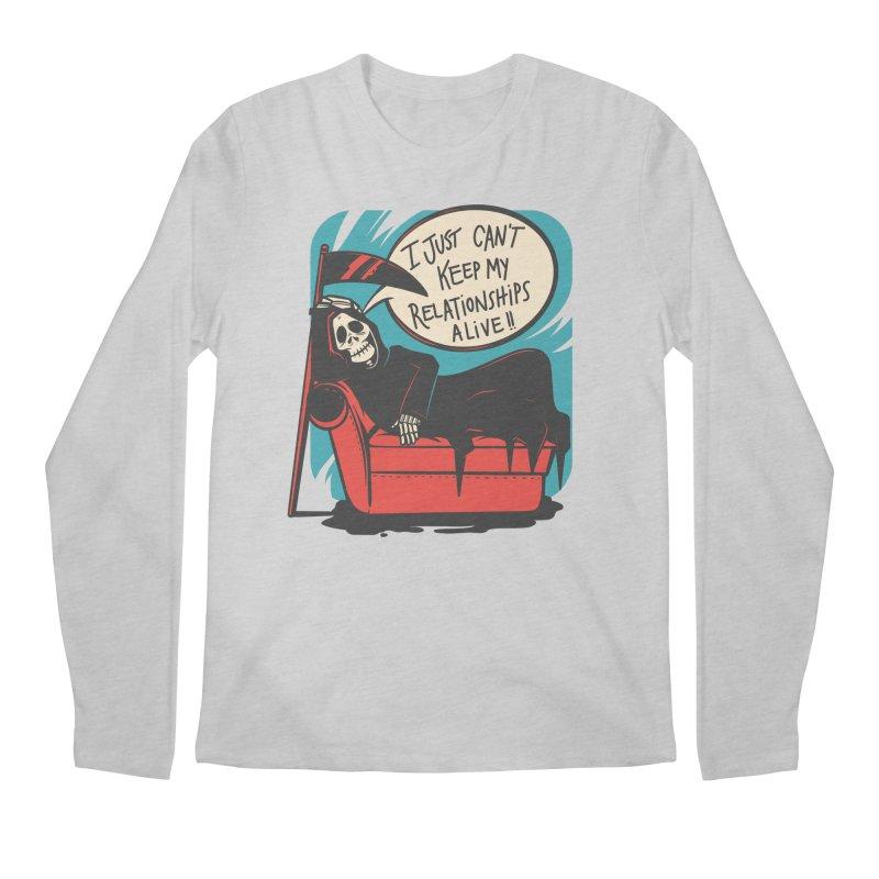 Grim Relationships Men's Longsleeve T-Shirt by Toxic Onion