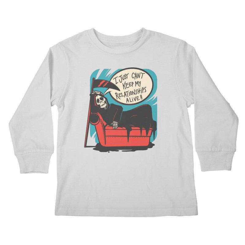 Grim Relationships Kids Longsleeve T-Shirt by Toxic Onion