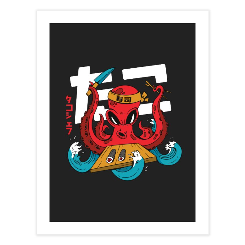 Octopus Chef Home Decor Fine Art Print by Toxic Onion - A Popular Ventures Company