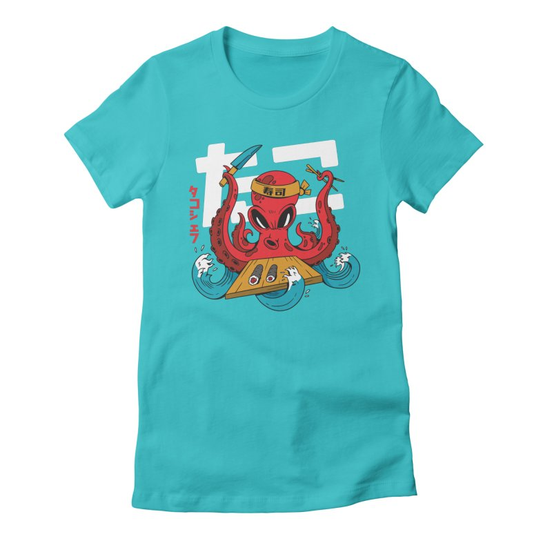 Octopus Chef Women's T-Shirt by Toxic Onion