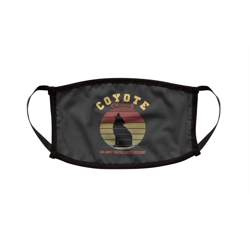Coyote Ridesharing Accessories Face Mask by Toxic Onion