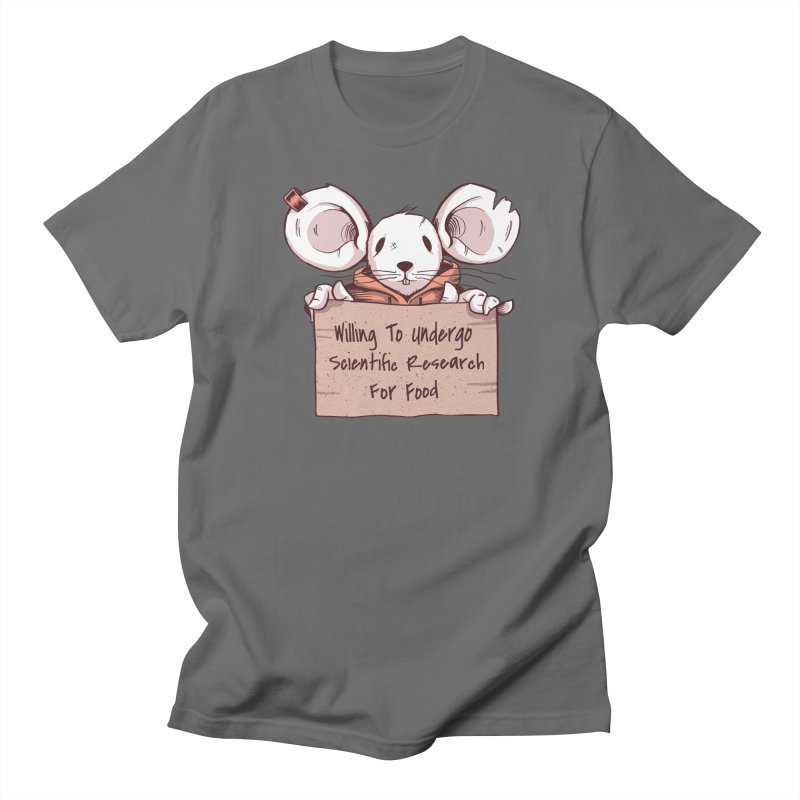 Scientific Research Mouse Men's T-Shirt by Toxic Onion