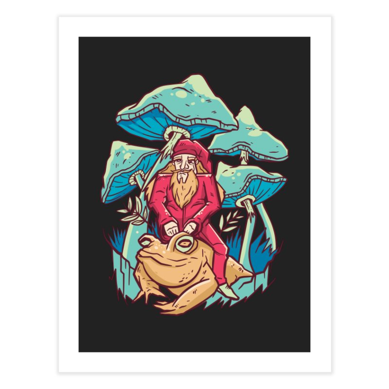 Psychedelic Wizard Home Decor Fine Art Print by Toxic Onion - A Popular Ventures Company