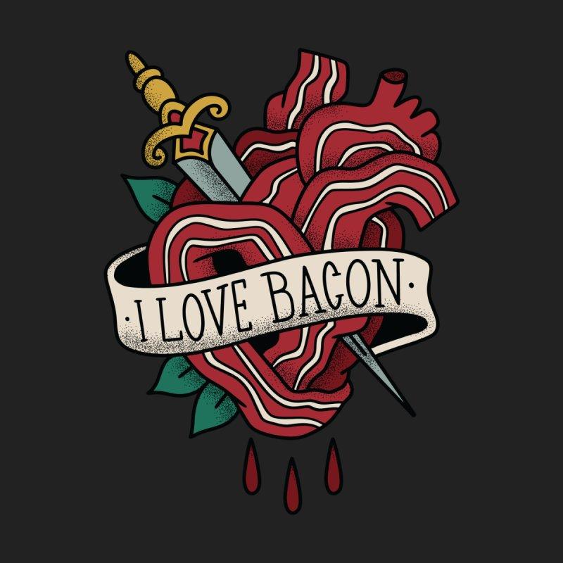 I Love Bacon Men's T-Shirt by Toxic Onion