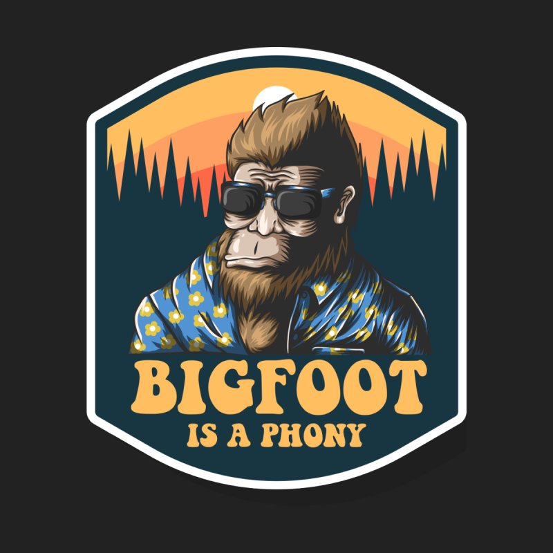 Bigfoot Is A Phony Men's T-Shirt by Toxic Onion