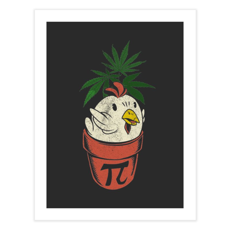Chicken Pot Pi Home Fine Art Print by Toxic Onion - A Popular Ventures Company