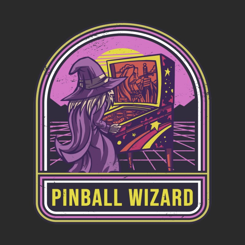 Retro Pinball Wizard Women's T-Shirt by Toxic Onion - A Popular Ventures Company