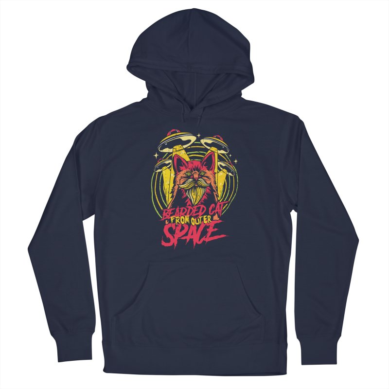 Bearded Cat From Outer Space Men's Pullover Hoody by Toxic Onion - A Popular Ventures Company
