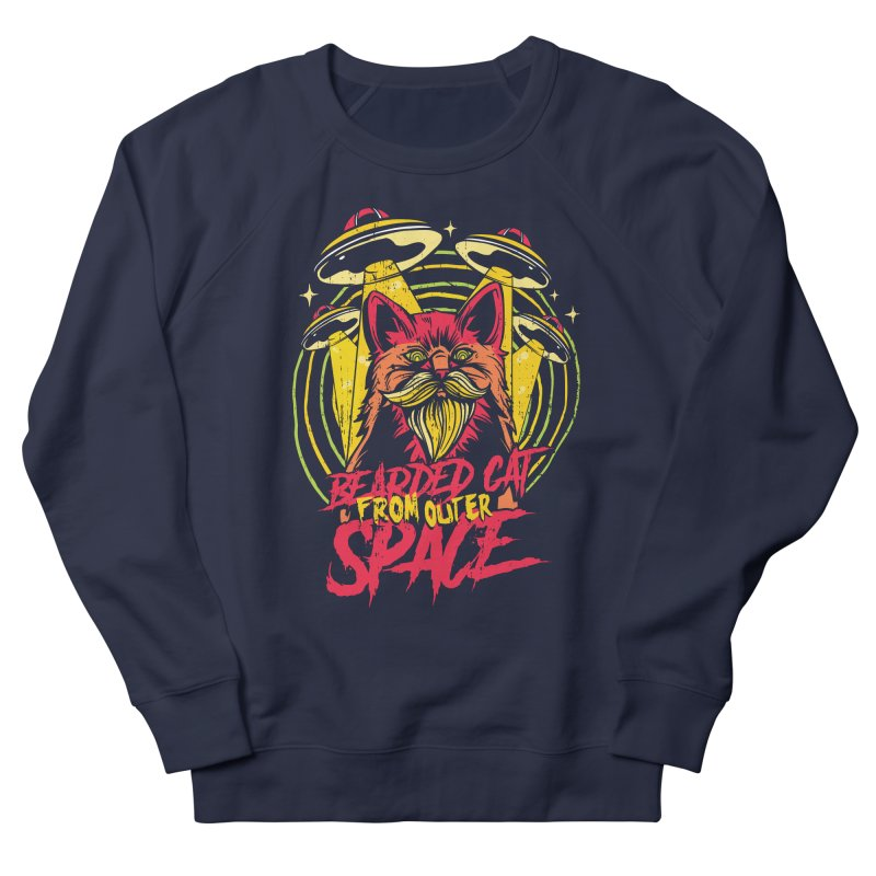 Bearded Cat From Outer Space Men's Sweatshirt by Toxic Onion - A Popular Ventures Company