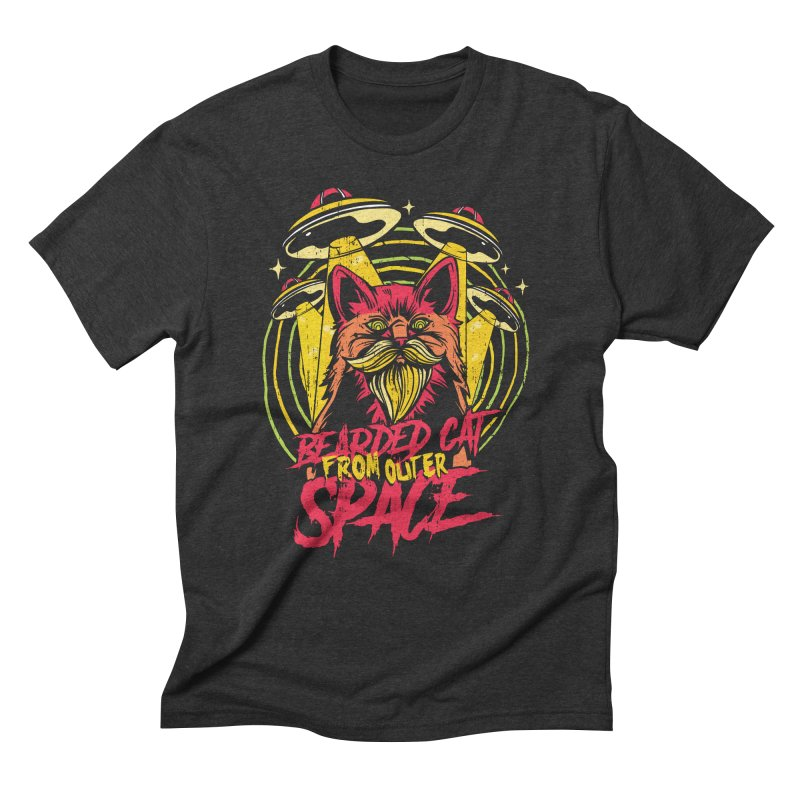 Bearded Cat From Outer Space Men's T-Shirt by Toxic Onion - A Popular Ventures Company