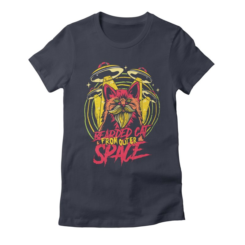 Bearded Cat From Outer Space Women's T-Shirt by Toxic Onion - A Popular Ventures Company