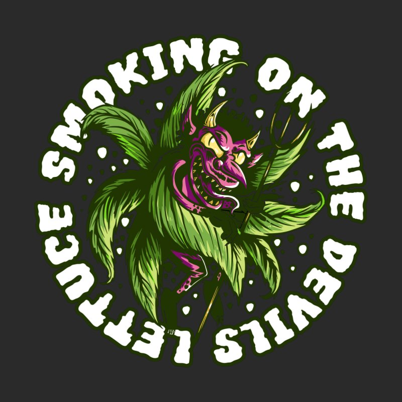 Smoking On The Devil's Lettuce Men's T-Shirt by Toxic Onion - A Popular Ventures Company