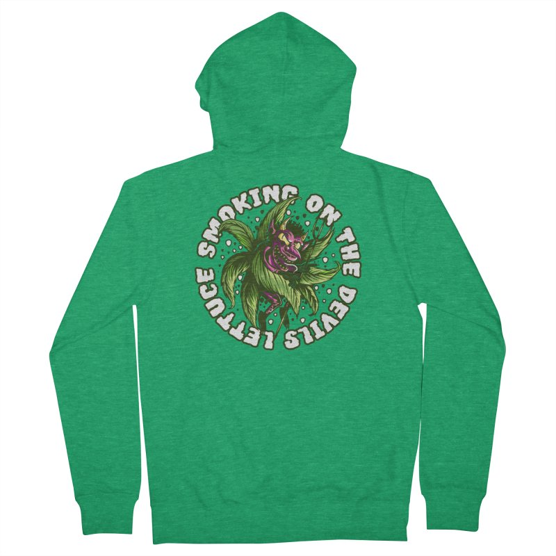 Smoking On The Devil's Lettuce Men's Zip-Up Hoody by Toxic Onion - A Popular Ventures Company