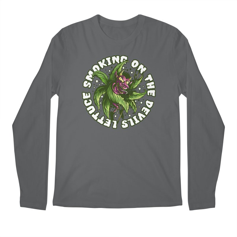 Smoking On The Devil's Lettuce Men's Longsleeve T-Shirt by Toxic Onion - A Popular Ventures Company