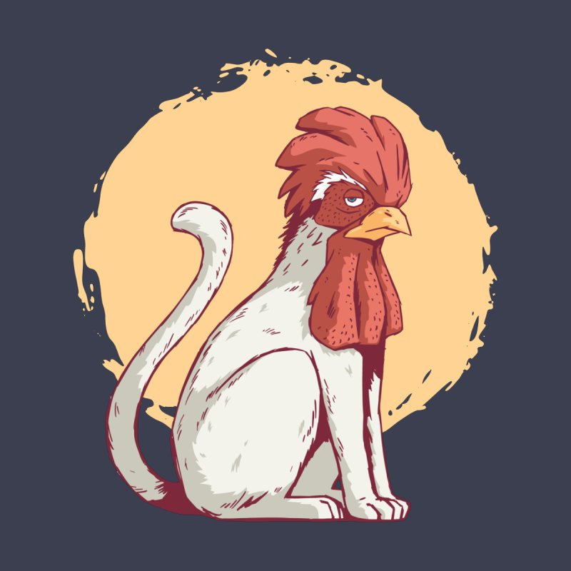 Rooster Cat Men's T-Shirt by Toxic Onion - A Popular Ventures Company