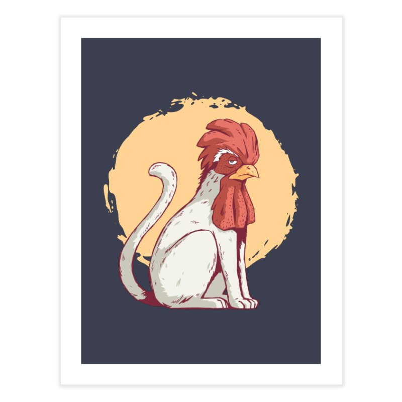Rooster Cat Home Fine Art Print by Toxic Onion - A Popular Ventures Company