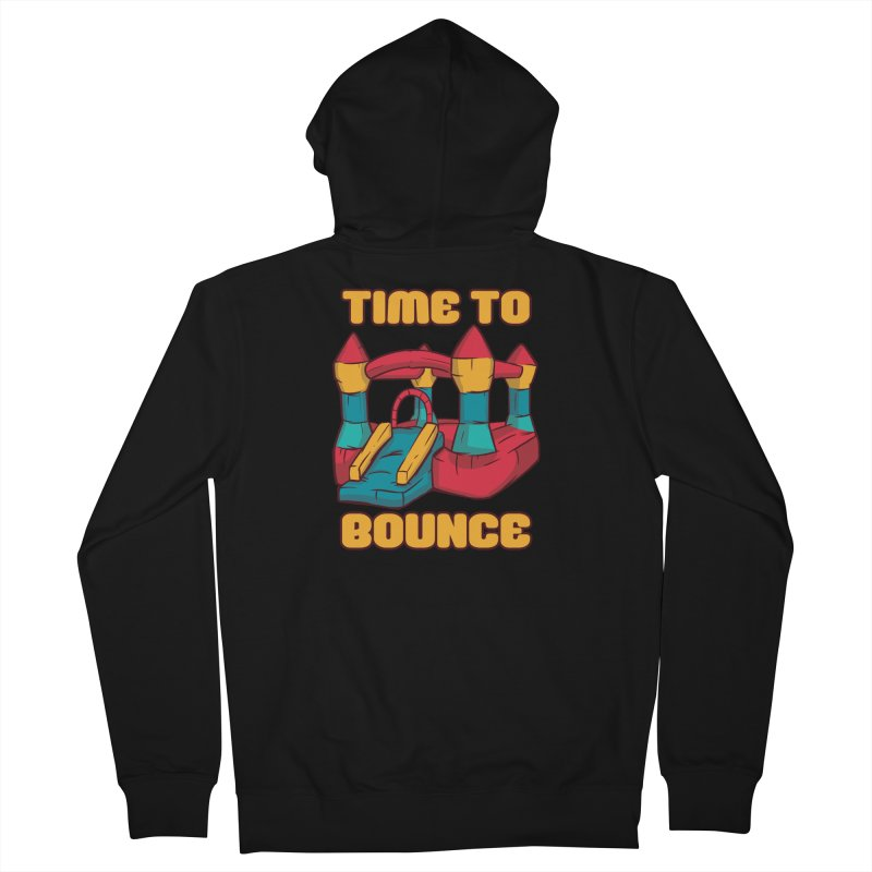 Time To Bounce Men's Zip-Up Hoody by Toxic Onion - A Popular Ventures Company