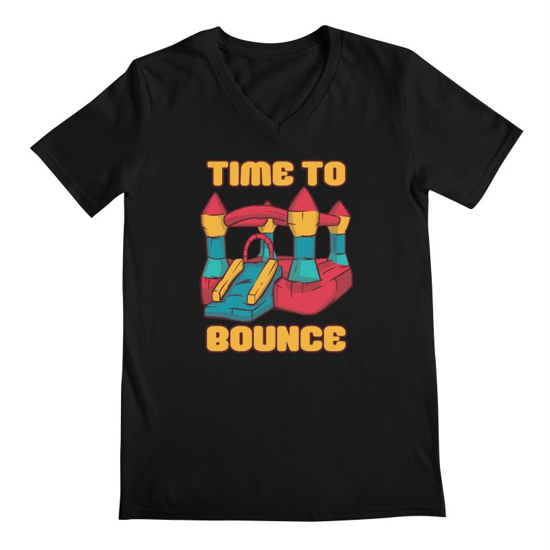 Time To Bounce Men's V-Neck by Toxic Onion - A Popular Ventures Company