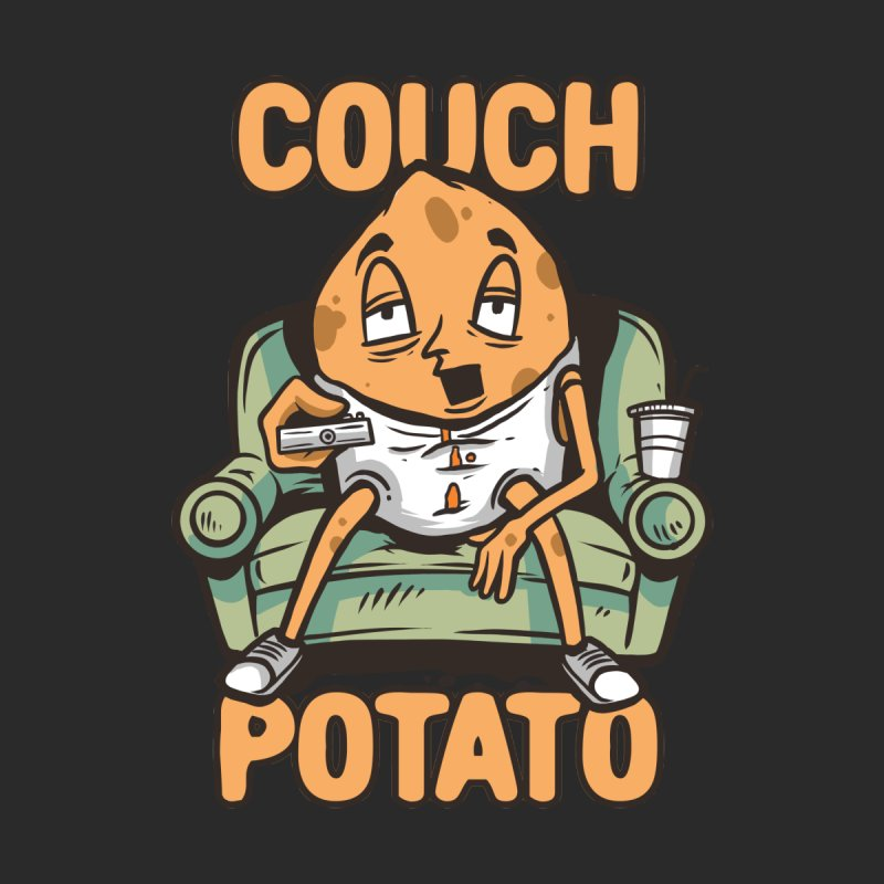 Couch Potato Men's Longsleeve T-Shirt by Toxic Onion - A Popular Ventures Company