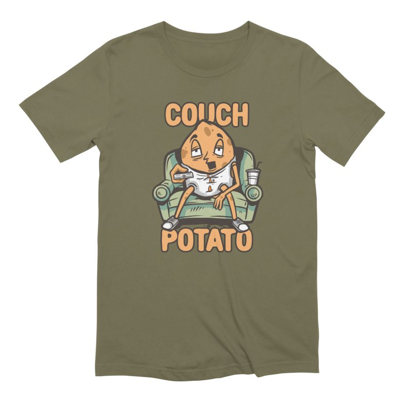 Couch Potato Men's T-Shirt by Toxic Onion - A Popular Ventures Company