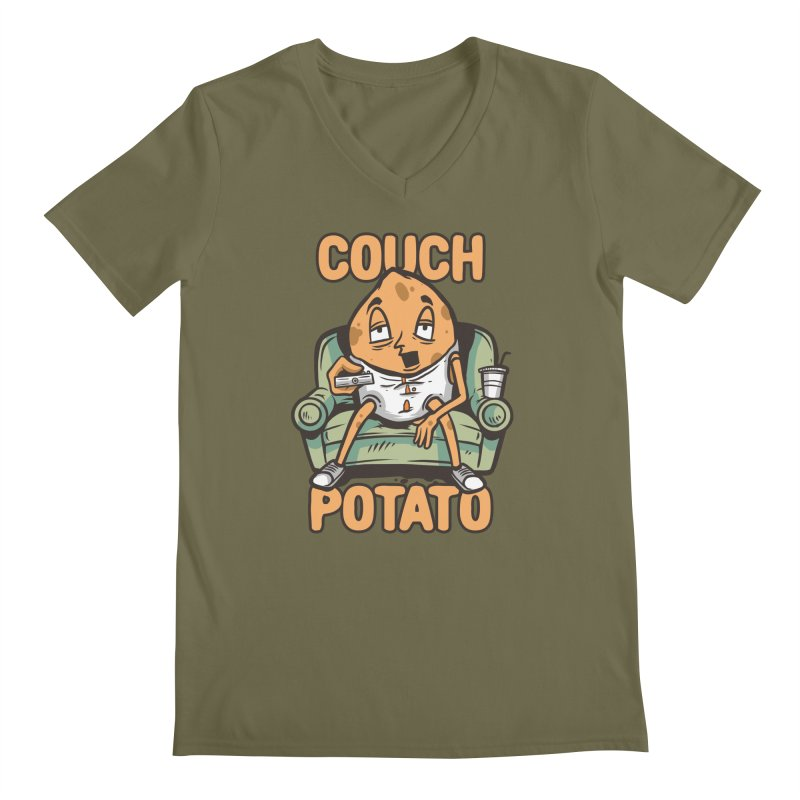 Couch Potato Men's V-Neck by Toxic Onion - A Popular Ventures Company