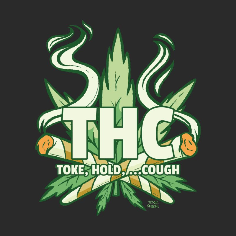 THC - Toke Hold Cough Men's T-Shirt by Toxic Onion - A Popular Ventures Company