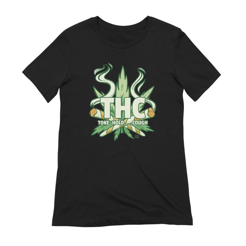 THC - Toke Hold Cough Women's T-Shirt by Toxic Onion - A Popular Ventures Company