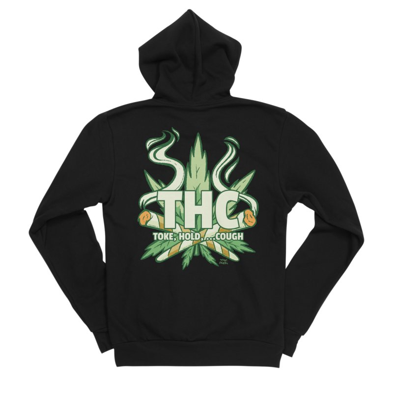 THC - Toke Hold Cough Women's Zip-Up Hoody by Toxic Onion - A Popular Ventures Company