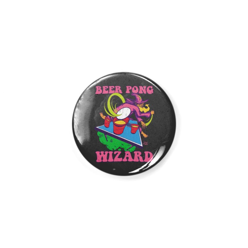 Beer Pong Wizard Accessories Button by Toxic Onion - A Popular Ventures Company