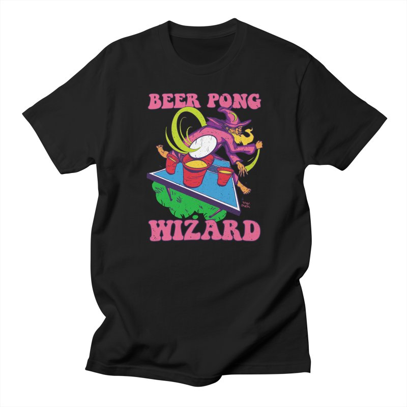 Beer Pong Wizard Men's T-Shirt by Toxic Onion - A Popular Ventures Company