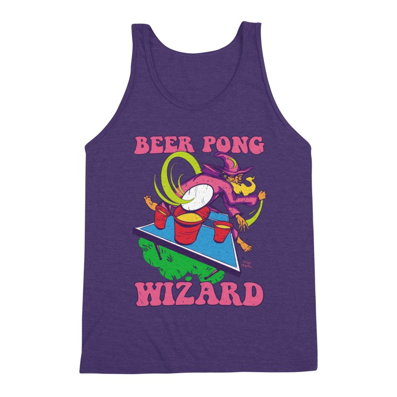 Beer Pong Wizard Men's Tank by Toxic Onion - A Popular Ventures Company