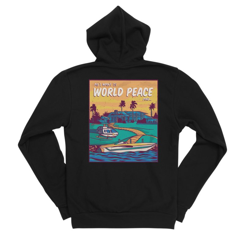 World Peace And Money Women's Zip-Up Hoody by Toxic Onion - A Popular Ventures Company