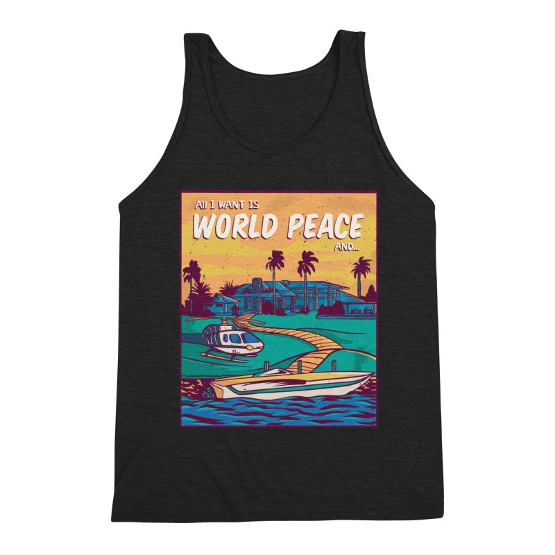 World Peace And Money Men's Tank by Toxic Onion - A Popular Ventures Company