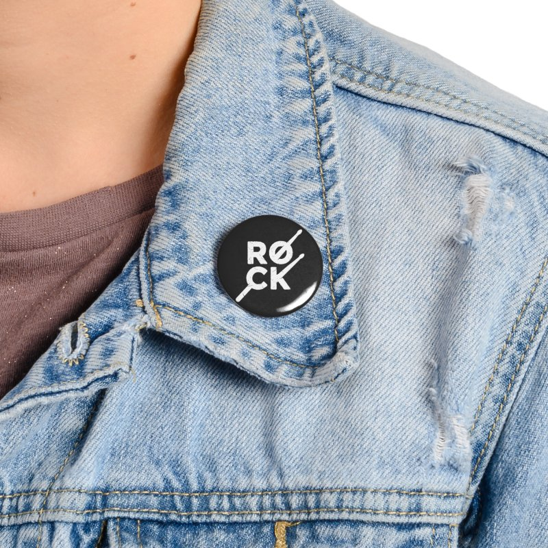 Rock Music Accessories Button by Toxic Onion - A Popular Ventures Company