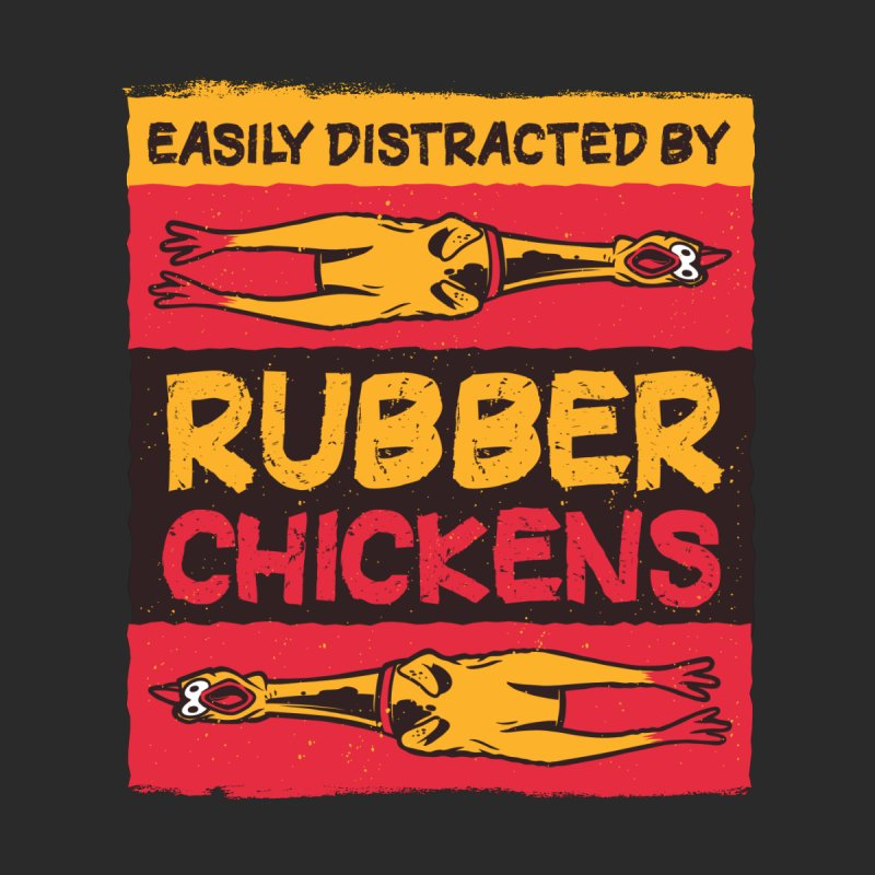 Easily Distracted By Rubber Chickens Women's Zip-Up Hoody by Toxic Onion - A Popular Ventures Company