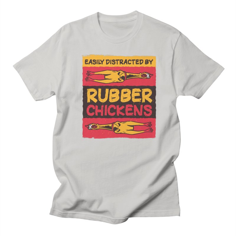 Easily Distracted By Rubber Chickens Men's T-Shirt by Toxic Onion - A Popular Ventures Company