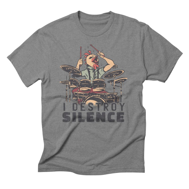 I Destroy Silence With Drums Men's T-Shirt by Toxic Onion - A Popular Ventures Company