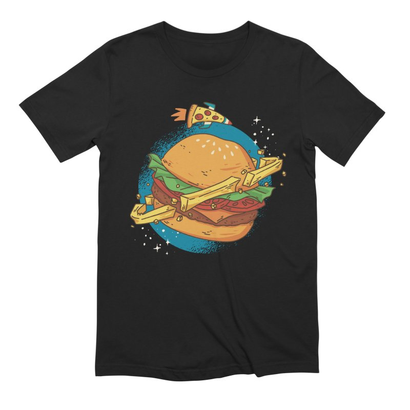 Fast Food Planet Men's T-Shirt by Toxic Onion - A Popular Ventures Company