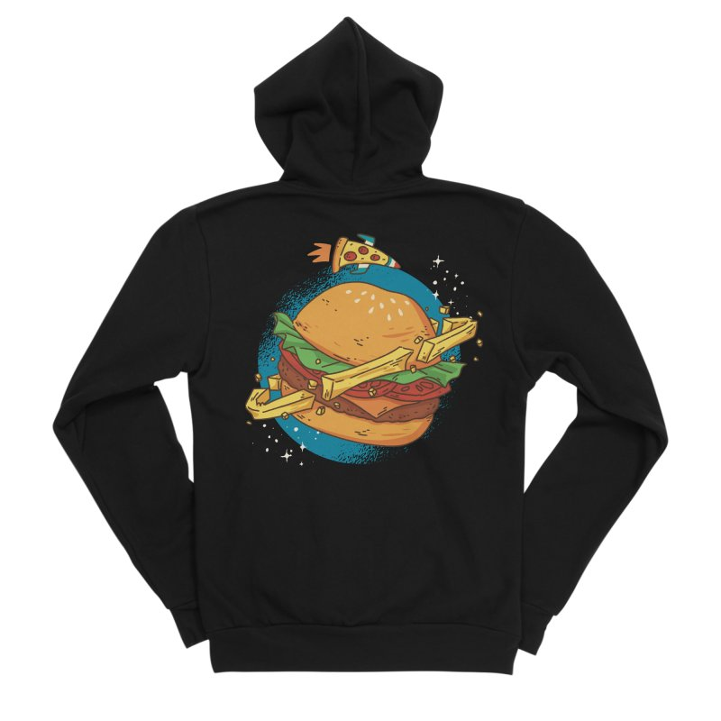Fast Food Planet Women's Zip-Up Hoody by Toxic Onion - A Popular Ventures Company