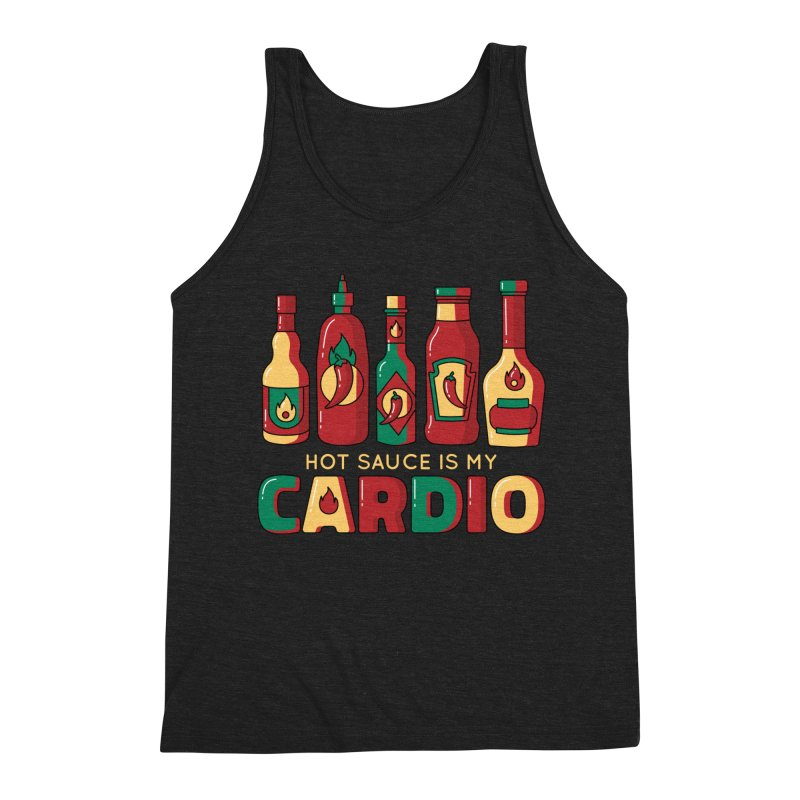 Hot Sauce Is My Cardio Men's Tank by Toxic Onion - A Popular Ventures Company