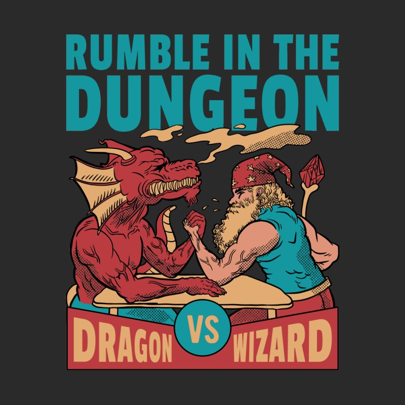 Dragon Arm Wrestling Wizard Men's T-Shirt by Toxic Onion - A Popular Ventures Company
