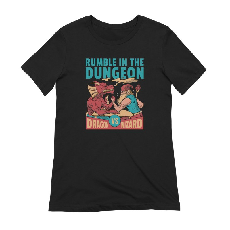 Dragon Arm Wrestling Wizard Women's T-Shirt by Toxic Onion - A Popular Ventures Company