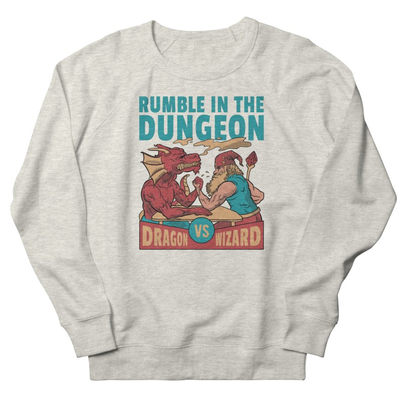 Dragon Arm Wrestling Wizard Men's Sweatshirt by Toxic Onion - A Popular Ventures Company